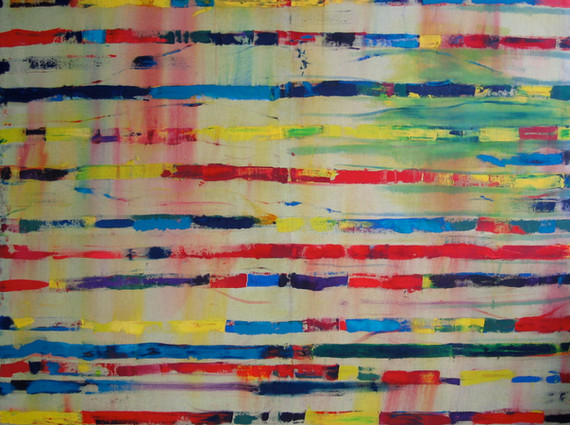 """""""Rue Nationale"""", 2005, oil on canvas, 190 x 200 cm."""