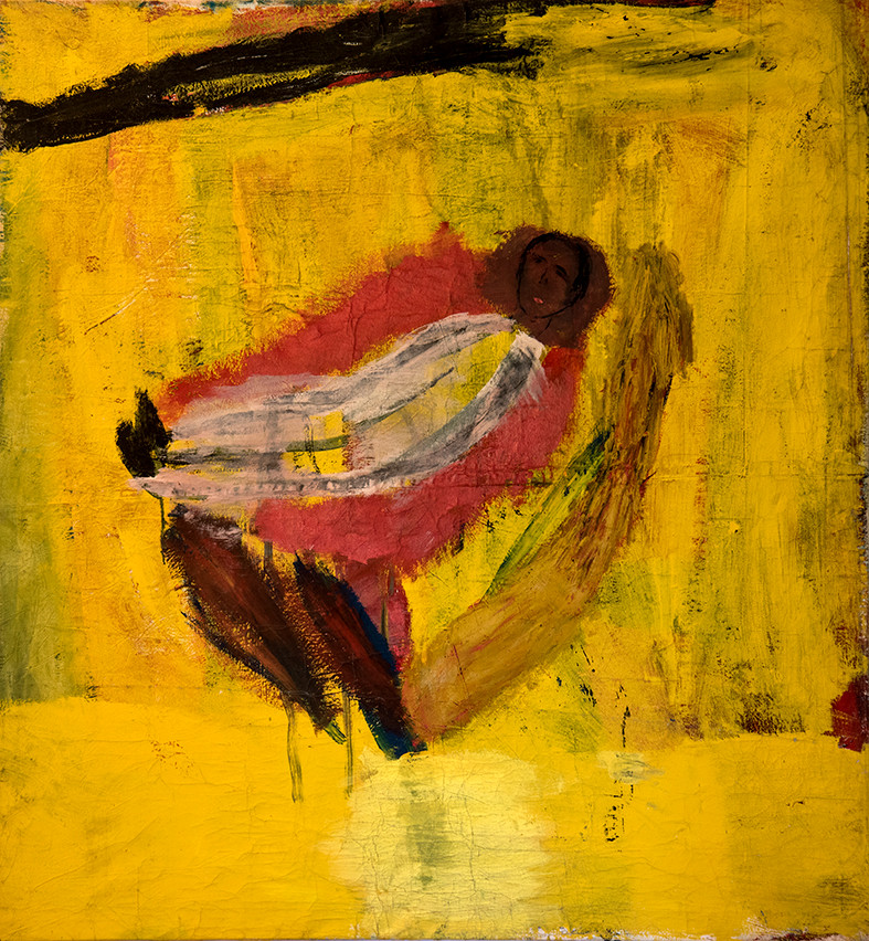 """Untitled"", 1985, acrylic on canvas, 130 x 130 cm."