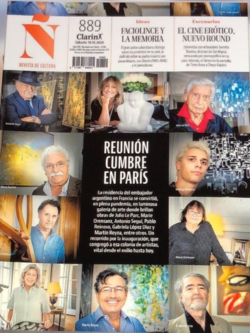 "2020, Clarín Ñ, ""Reunión cumbre en Paris"", Buenos Aires,  María Laura Avignolo, Fotos Noël Smart"