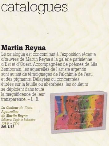 2008, La couleur de l'eau, Martín Reyna, aquarelles, Lila Zemborain, Poèmes