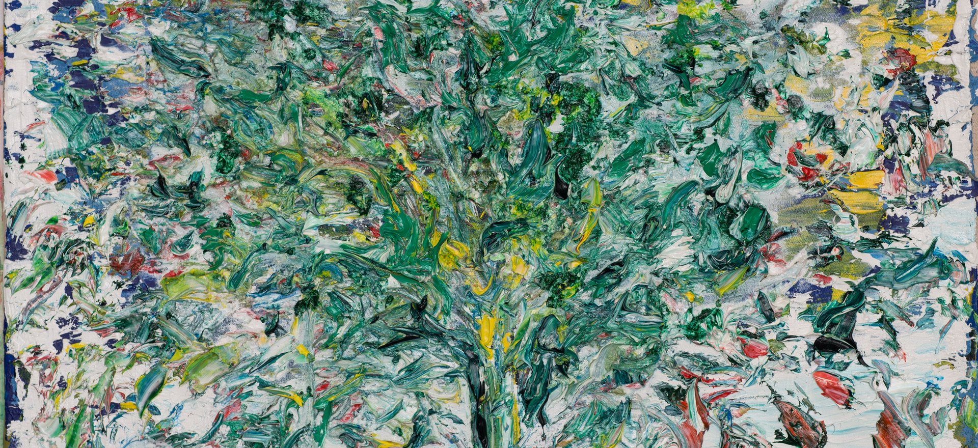 """Arbol"", oil on canvas, 80 x 80 cm."