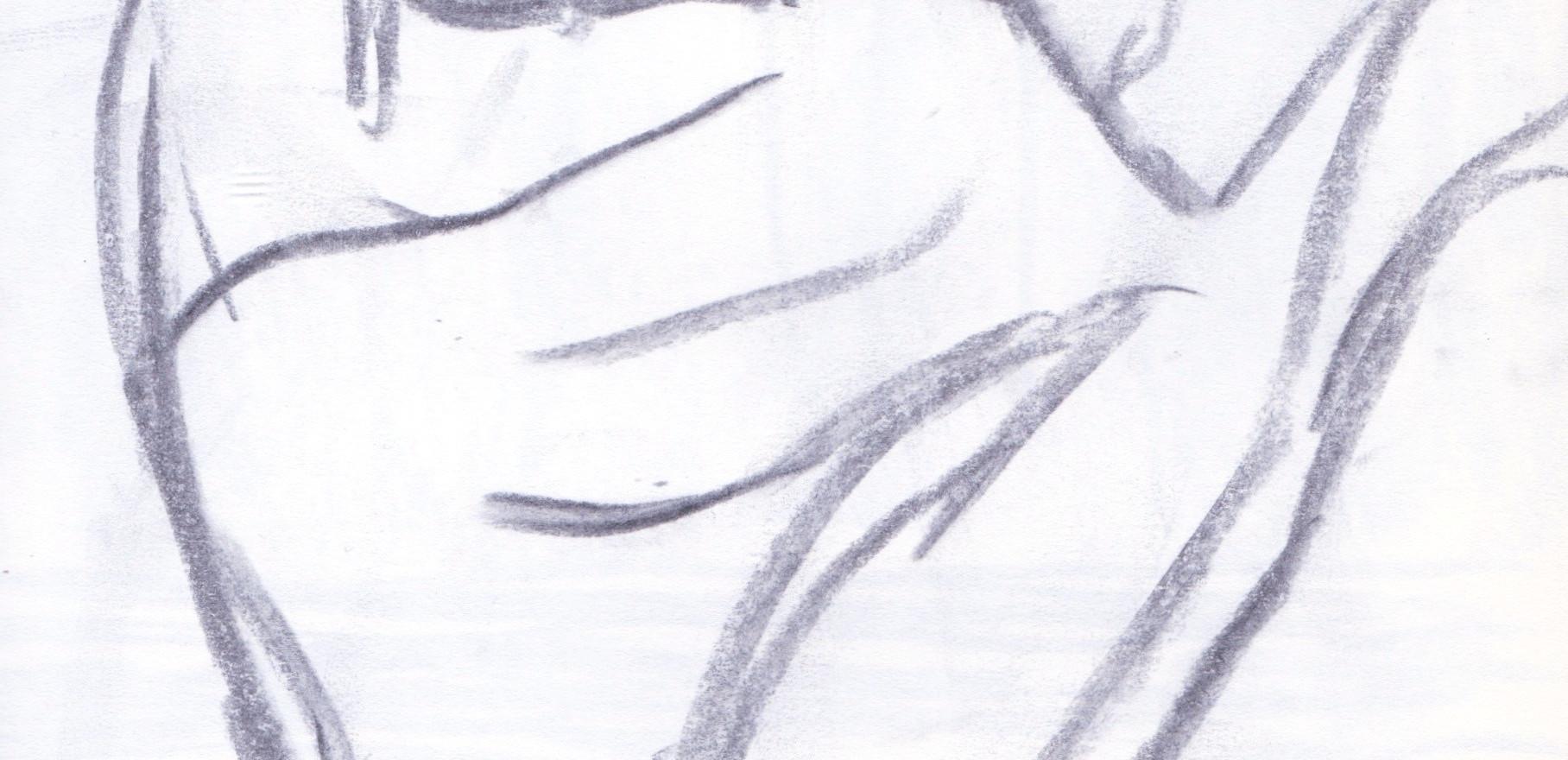 Mano con ojo, 1992, graphite sur papier
