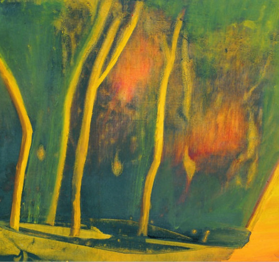 """""""Paysage"""", 1994, Acrylic on canvas, 97 x 146 cm."""
