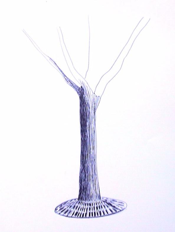 Arbol, 2001, ink on paper