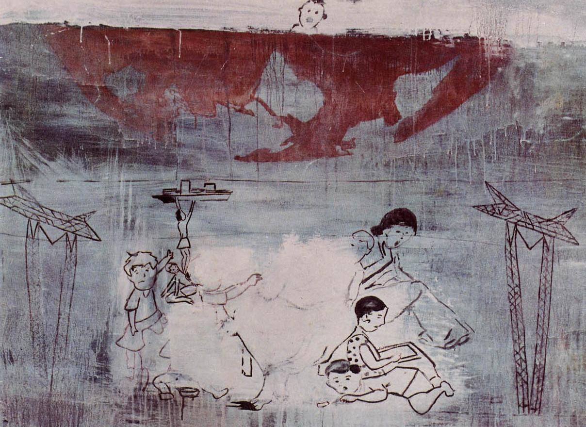 """Untitled"",1988, acrylic on canvas, 140 x 140 cm."