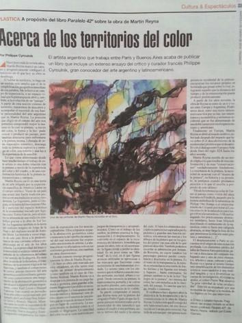 2018, Pagina 12, Buenos Aires,  Acerca de los territorios del color, Philippe Cyroulnik