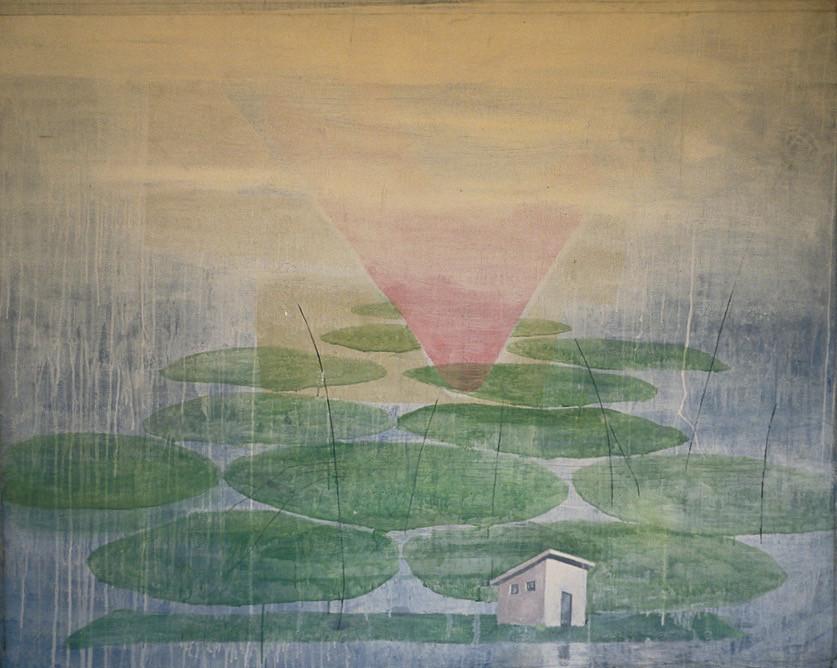 """""""Paisaje '88"""", 1988, acrylic on canvas, 140 x 160 cm."""