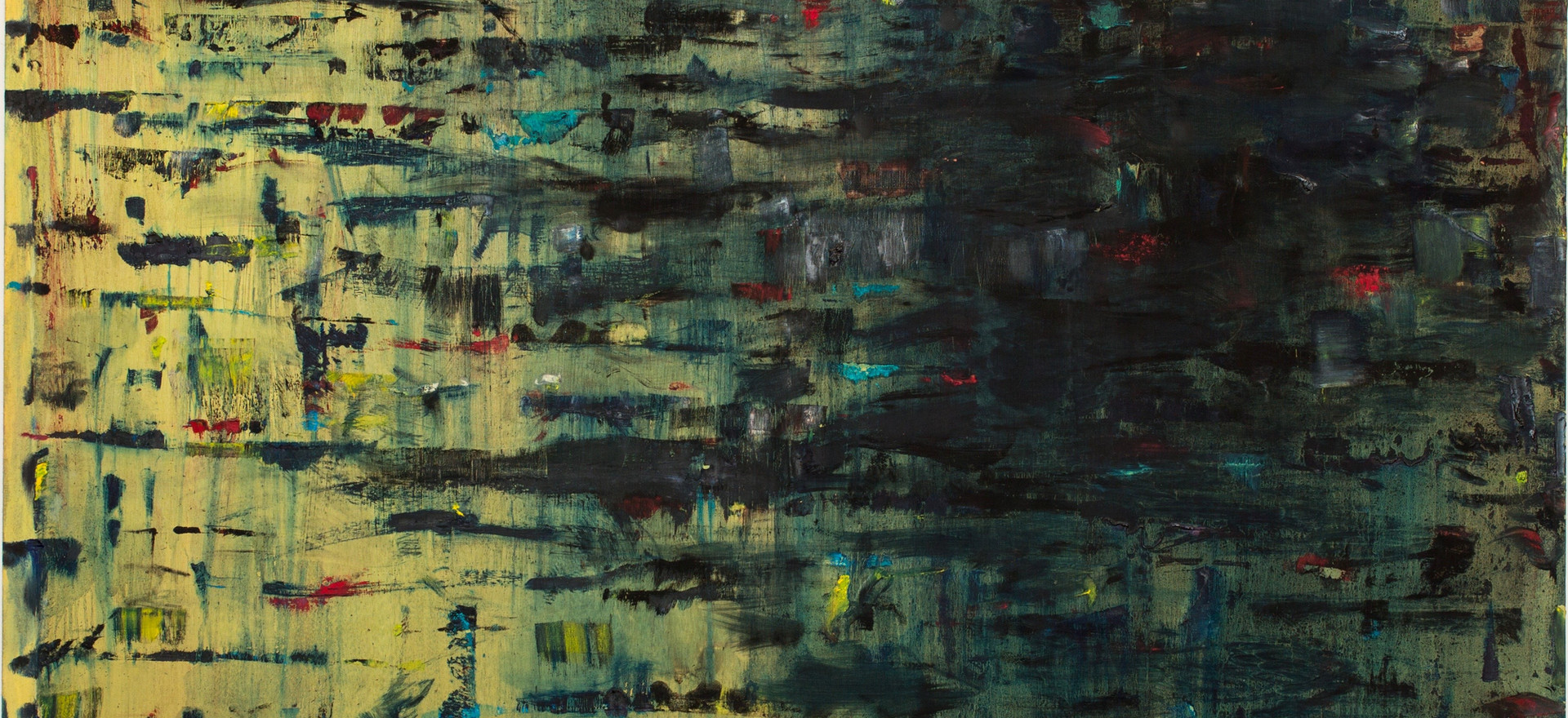 """Paisaje"", 2000, oil on canvas, 203 x 203 cm."