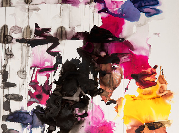 """""""Untitled"""", 2012, mixed media on paper on canvas, 200 x 150 cm."""