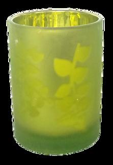 Light Green Tea Light Glass