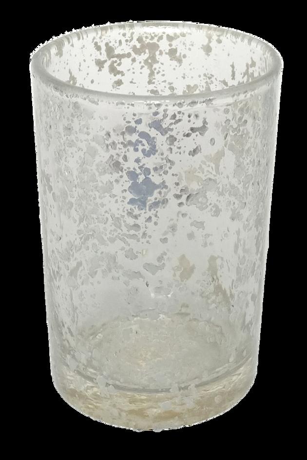 Tea Light Glass Silver Mercury