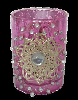Tea Light Glass Pink