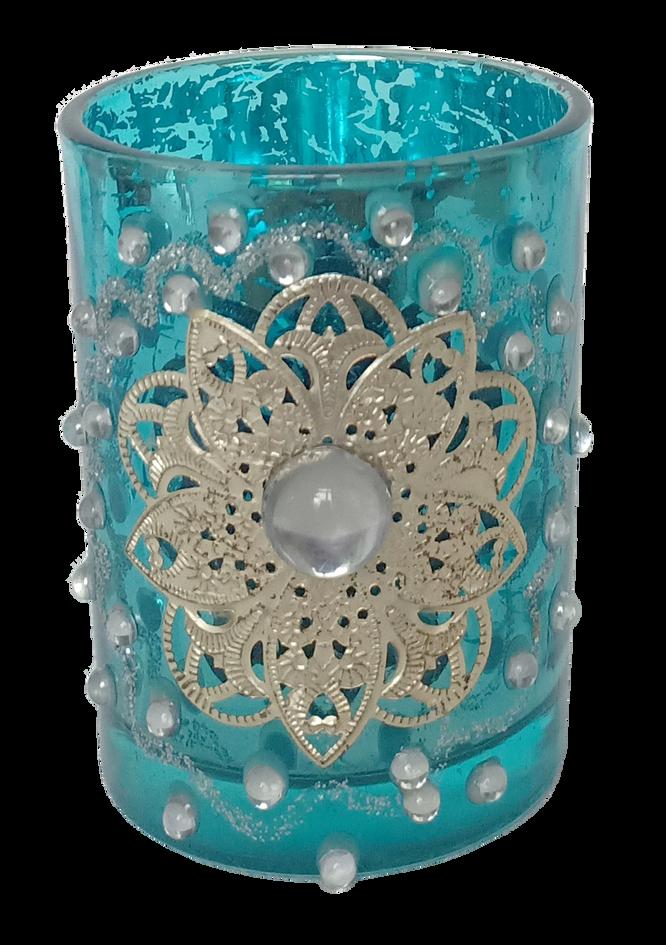 Tea Light Glass Light Blue