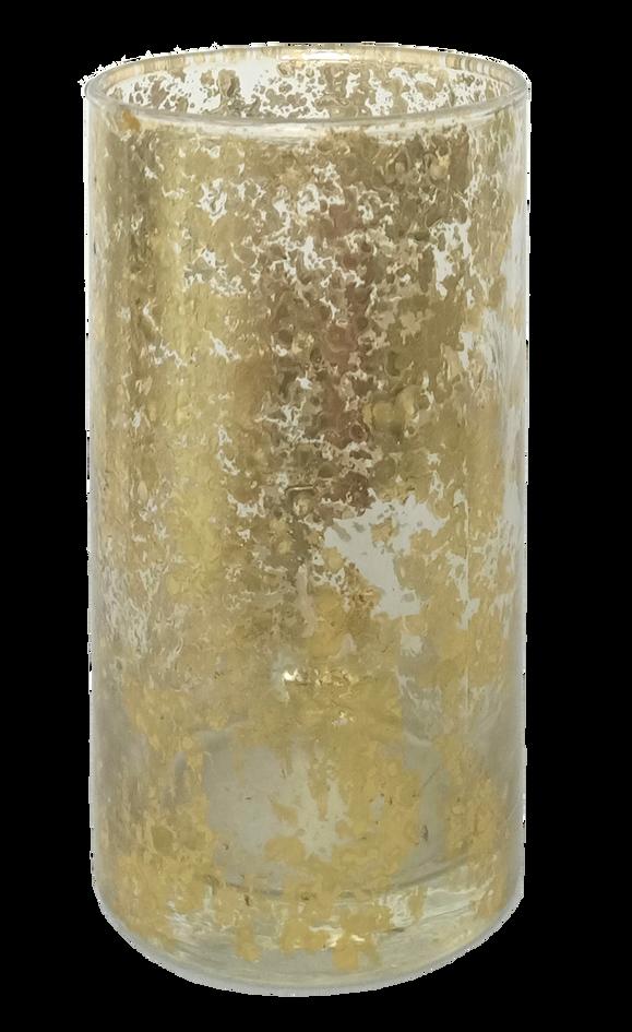 Tea Light Gold Mercury Glass