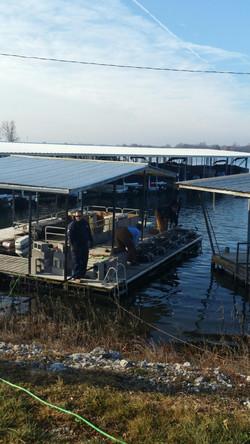 Installing Loops at Lake Viking