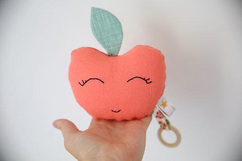 Hochet - jouet d'éveil Fruits Pomme // Plusieurs coloris possibles