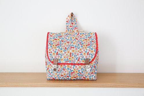 Cartable - Sac à dos Fruits & fleurs - tissu Oeko tex©