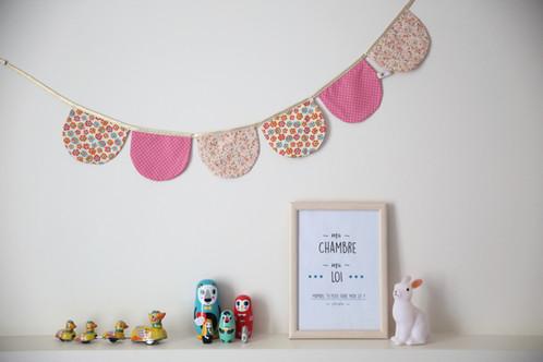 Guirlande décorative rose et doré