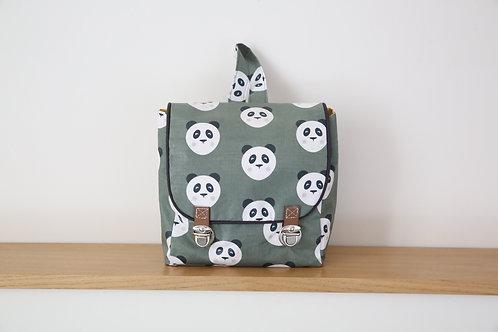 Cartable - Sac à dos Panda - tissu Oeko tex©