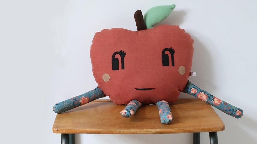 Coussin Pomme Rouge Brique
