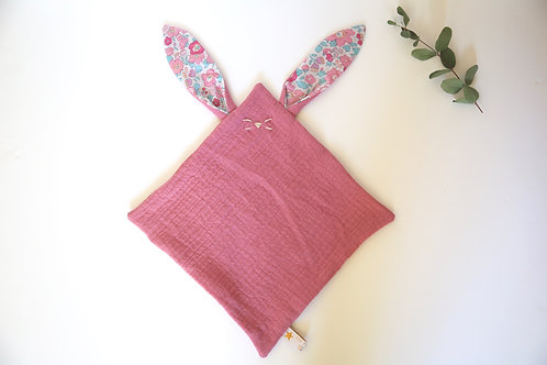 Doudou Lapin Rose & Liberty