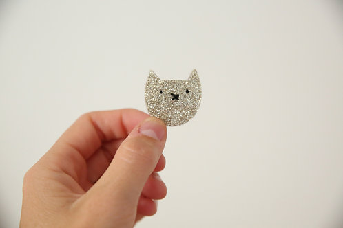 broche petit Chat pailleté