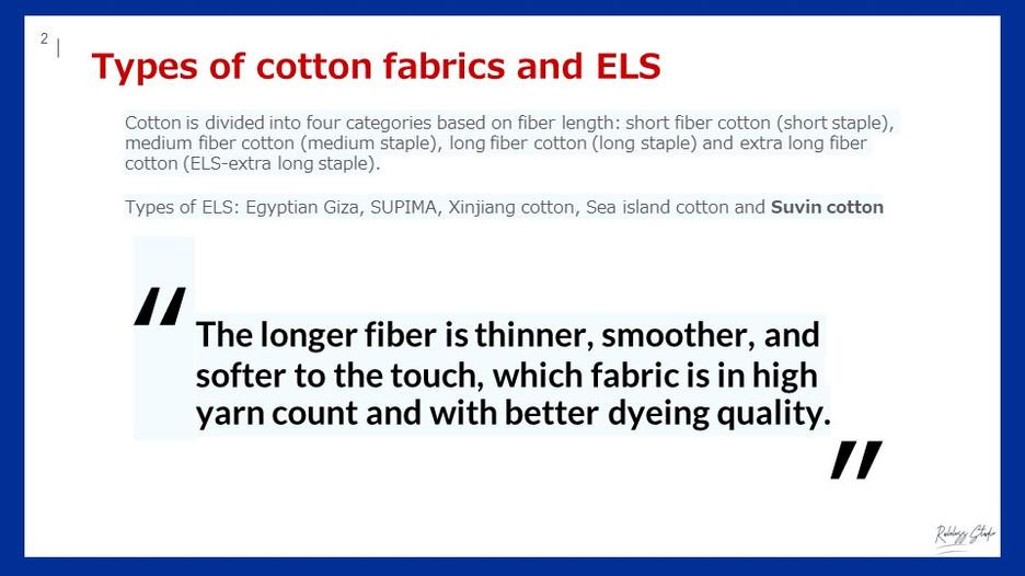ELS cotton fibers