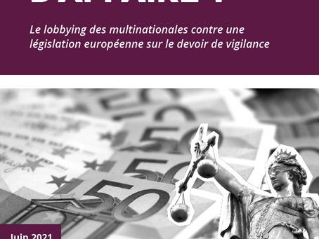 Étude sur le lobbying des multinationales et une législation européenne sur le devoir de dilligence