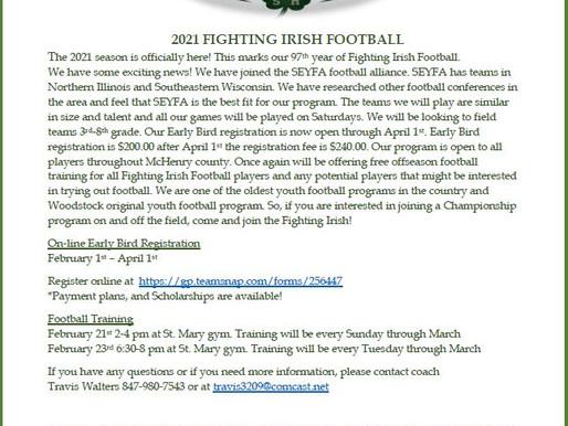 Welcome to 2021 Fighting Irish Football!