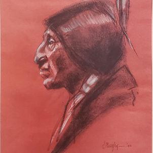 Native American Profile 2 by Dottie Murphy