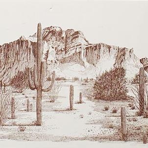 Desert Print by Dottie Murphy