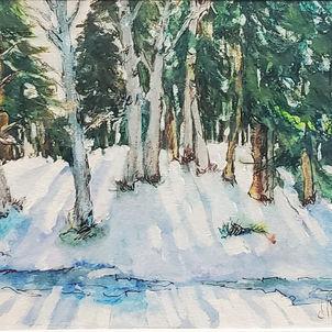 Snowy Landscape by Dottie Murphy