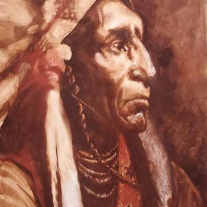 Native American Profile 1 by Dottie Murphy