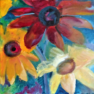 Three Sunflowers by Pat Catlett (Suggested Donation: $50.00)