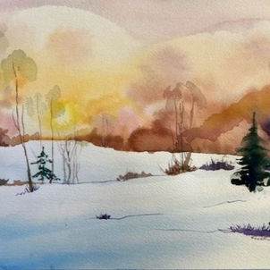 Snow & Sunset by Heather Gaume (Suggested Donation: $40.00)