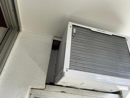 AC室外機横の隙間