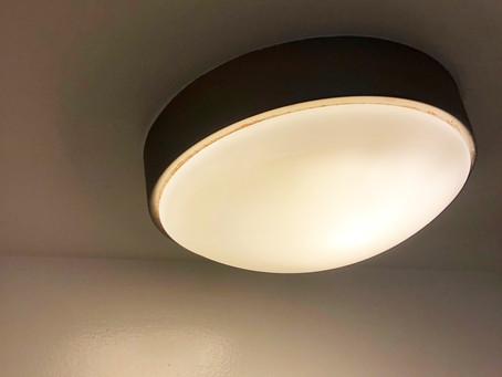 天井の照明の交換