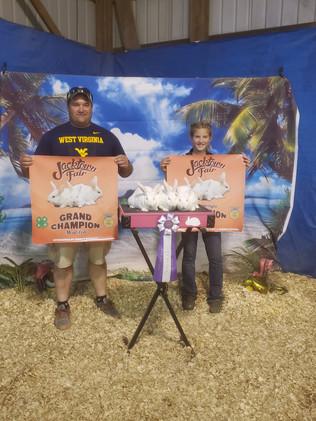 Allison Pecjak, Grand Champion Meat Pen, Jacktown Fair