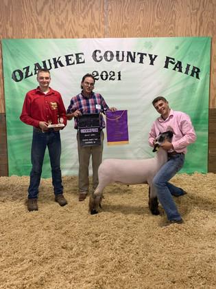 Paul Riemer, Grand Champion Market Lamb, Ozaukee County Fair 2021