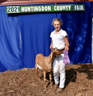 Marissa Yutzy, Reserve Grand Champion Goat, Huntingdon County Fair