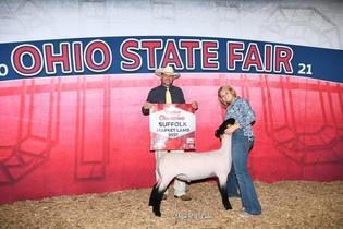 Cara Schwartz, Reserve Grand Champion Lamb, Ohio State Fair