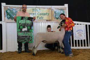 Cora Bartrum, Grand Champion Lamb, Howard County 4-H Fair