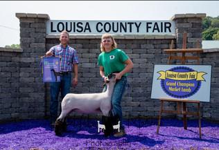 Cole Storm, Grand Champion Lamb, Louisa County Fair