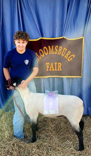Jason McCarty, Reserve Grand Champion Lamb, Bloomsburg Fair 2021.jpg