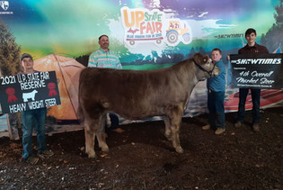 Tate Thompson, Reserve Heavyweight & 4th Overall Steer, Upper Peninsula State Fair