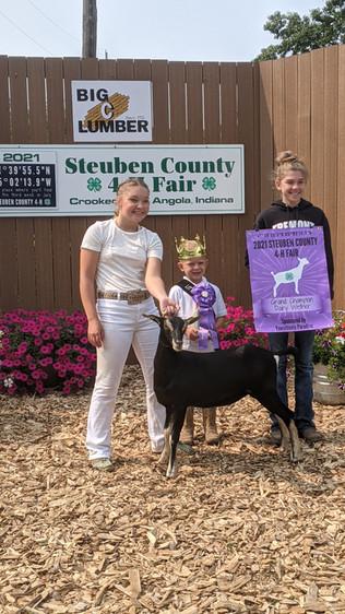 Karlie Williams, Grand Champion Goat, Steuben County 4-H Fair