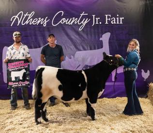 Jordan Marcum, Reserve Grand Champion Beef Feeder, Athens County Fair 2021
