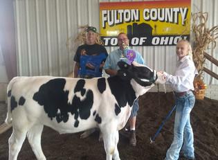 Kennedy Keller, Grand Champion Dairy Feeder Calf, Fulton County Fair