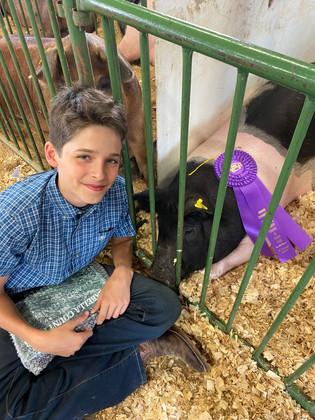 Logan Seeburger, Grand Champion Hog, Isabella County Fair