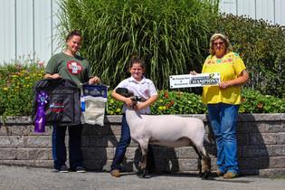 Katie Drum, Grand Champion Lamb, Dutchess County Youth Market Lamb Show 2021